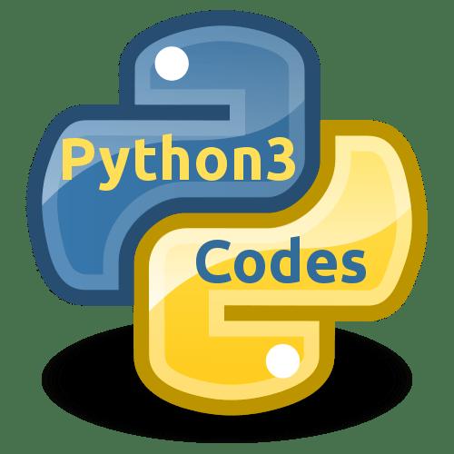 python3 codes